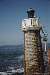 Phare de Capbreton (Sébastien Combet) Tags: capbreton canon canonet fujichrome sensia reversal inversible diapositive summer plage beach landes phare lighthouse