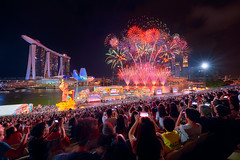 Fireworks and Phones (Scintt) Tags: singapore mbs marina bay sky dramatic travel tourist attraction exploration movement motion skyline cityscape city urban modern structures architecture buildings offices cbd scintillation scintt jonchiangphotography iconic surreal epic wideangle glow light tones dusk twilight waterfront longexposure slowshutter bluehour hotel office towers skyscrapers rafflesplace wide night evening financial business centralbusinessdistrict nikon carnival fun celebration trails reflections river multipleexplosures sigma 1224 art floatingplatform fireworks composite blended shentonway hongpao marinabaysands artsciencemuseum