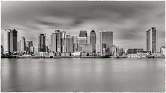 Docklands Skyline (Andy J Newman) Tags: london monochrome blackandwhite canarywharf d810 docklands eastlondon longexposure nikon silverefex england unitedkingdom gb