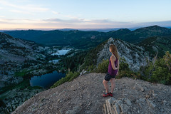 Brighton Lakes (colincromar) Tags: lake adventure hiking hike lakes mountain alpine landscape outdoors outside health lifestyle peak canyon valley wide ultrawide zeiss 1635 overlook view vista summer outbound utah slc women female model nature explore