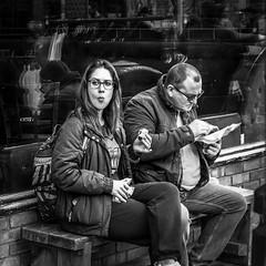 IMG_1130058 (Kathi Huidobro) Tags: snack lunchbreak blackwhite bw monochrome candid streetportrait streetphotography streetscene london