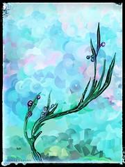 Olive Branch (donnacoburn1) Tags: artistic ipadart ipadpro drawing painting textures imagination canvas safe public colours brushes mobileart artrage artwork original donnacoburn creative art