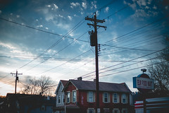 Rooftops (joshhansenmillenium) Tags: canon6d 6d canon photography modelling sunset kentucky ludlow freelance model street bw contrast clouds sky spring portrait