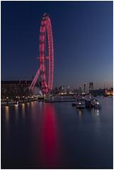London Eye (babell4321) Tags: london londoneye beverleybell 2019 bluehour longexposure reflections riverthames river water londonlandmarks boats buildings silhouette skyline londonskyline recent explore