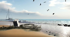 Eau Salée - Salt Water (Karole Batista) Tags: saltwater sea ocean beach shoreline beautiful relaxing photography photomanipulation digitalphotography secondlife landscape karolebatista exploresecondlife virtual amrum