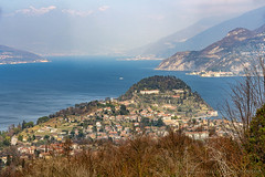 Como lake from Ghisallo, Italy (clodio61) Tags: como europe february ghisallo lario madonna color day lake landscape mountain nature outdoor panorama panoramic photography plant scenic sunny tree view winter