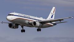 N475UA_LAS_Landing_26L_Retro (MAB757200) Tags: unitedairlines a320232 n475ua a320friendshipretrojet aircraft airplane airlines airbus airport jetliner landing las klas mccarran runway26l
