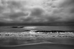 Breaking Up (delmarvajim) Tags: bw blackandwhite seascape beach ocean clouds water assateagueisland light shadow reflection