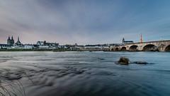 Blois heure bleue (v.hajek) Tags: longexposure loirevalley poselongue loire sunset coucherdesoleil city bluehour ville heurebleue blois