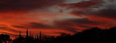 Sunset 12 23 18 #09 Panorama (Az Skies Photography) Tags: sunset sun set dusk twilight nightfall sky skyline skyscape cloud clouds red orange yellow gold golden salmon black december 23 2018 december232018 122318 12232018 rio rico arizona az rioricoaz arizonasky riorico arizonaskyline arizonaskyscape canon eos 80d canoneos80d canon80d eos80d panorama