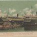 SHIP SISTER SHIPS THE SS ILLINOIS and SS MISSOURI at the Docks & Boat Landing in popular Traverse City Steamer Excursion Ferry & Mail Boat Popular Lake Ferry