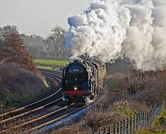 on the curve (midcheshireman) Tags: steam train mainline cheshire 70000 britannia