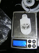 Keyring Toyota Logo Print To Raft - Weight - 08-01-2019 (Lord Inquisitor) Tags: 3dprinted keyring pla plastic 175mm white weight scale toyota logo