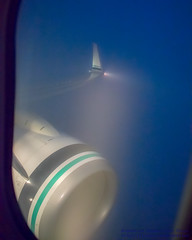 Cutting Through the Fog (AvgeekJoe) Tags: iflyalaska 737 737800 737890 alaskaair alaskaairlines boeing737 boeing737800 boeing737890 d5300 dslr msn35195 n524as nikon nikond5300 aircraft airplane aviation jetliner plane
