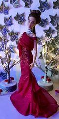 Lady in Red (MaxxieJames) Tags: barbie doll dolls mattel ken fashion fashionista new year eve nye collector vittoria bastian hunter belmonte winter wonderland snow