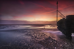 Light flows (Through Bri`s Lens) Tags: sussex worthing lancing outfall sea pebbles shingle longexposure sunset brianspicer canon5dmk3 canon1635f4