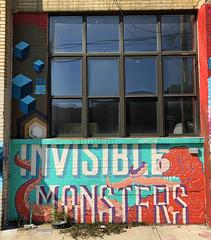 Invisible Monsters (wiredforlego) Tags: graffiti mural streetart urbanart aerosolart publicart williamsburg brooklyn newyork nyc ny