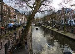 Oude Gracht in Utrecht (joeke pieters) Tags: 1450013 panasonicdmcfz150 utrecht nederland netherlands holland oudegracht canal reflections