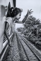 Hanging out (www.chrisbirds.com) Tags: 2015 bangkok thailand bkk chrisbird streetphotography wwwchrisbirdscom blackandwhite train travel