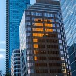 Shangri-La Tower and Evening Sun Reflection thumbnail
