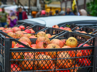 Pomegranate at the fruit market