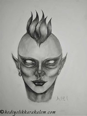 Alien (hediyelikkarakalem) Tags: charcoal charcoaldrawing drawings draw image pictures illustration graphics paintings sketching pencildrawing art myart graphic creative portrait abstractart life love realism cool awesome beautiful sketchbook artist lifestyle europe usa design birthday