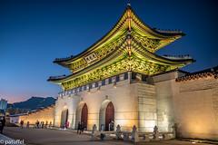 Gwanghwamun Gate during the Blue Hour (Seoul) (patuffel) Tags: gwanghwamun gate main gyeongbokgung palace seoul south korea blue hour