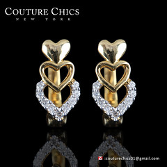 Latch Back Genuine 0.1 Ct Pave Diamond Heart Designs Stud Earrings Solid 14k Yellow Gold Wedding & Party Jewelry Valentine's Day Gift (couturechics.facebook1) Tags: latch back genuine 01 ct pave diamond heart designs stud earrings solid 14k yellow gold wedding party jewelry valentines day gift