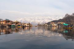 Dal lake (Karunyaraj) Tags: lake dal dallake kashmir sunset sunsetmountains sunsetatlake snow snowy mountains water waterreflection nikond610 nikon24120