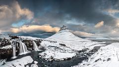Kirkjufellfoss (petebristo) Tags: kirjufellfoss snow slowshutter waterfall