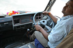 Check Left (Pedestrian Photographer) Tags: bus driver dashboard fatehpur sikri india