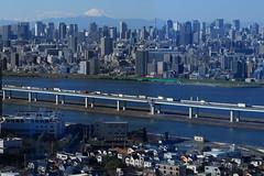 Tokyo (seiji2012) Tags: 東京 船堀タワー 富士山 東京タワー 首都高 荒川 tokyo japan river building highway funaboritower happyplanet asiafavorites