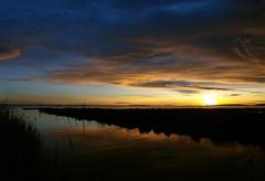 par dessus l'étang, soudain.... (dubus regis) Tags: étang laure mauguio france olympus occitanie hérault sunrise sky water sea lake