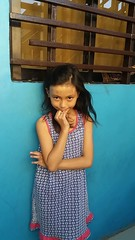 portrait (ghostgirl_Annver) Tags: asia asian girl annver teen preteen child kid daughter sister family portrait blue wall