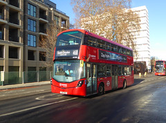 AL HV398 - LC67AHZ - CAMBERWELL ROAD - THUR 17TH JAN 2019 (Bexleybus) Tags: wrightbus arriva london gemini volvo hv398 lc67ahz walworth road se5 hybrid tfl route 468