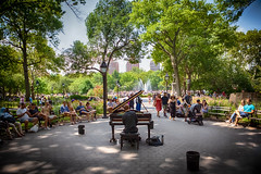 Lunchtime Entertainment (nixter) Tags: washingtonsquarepark bigapple newyorkcity nyc park performance piano urban