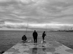 Toyama Bay (peaceblaster9) Tags: fishing ocean sea bay fisherman sky cloud harbor toyamabay toyama japan uozu 釣り人 釣り 海 富山湾 富山 魚津 空 雲