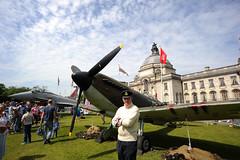 Cardiff 89875 (kgvuk) Tags: cardiff wales southwales city capital cityhall typhoon eurofighter raf centenary aircraft aeroplane plane spitfire