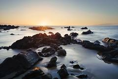 Sunset on the Rocks (BlinkOfALens) Tags: kihei hawaii unitedstates us maui sunset beach ocean longexposure