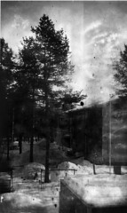 Dry plate exposure test (Sonofsono) Tags: film finland soviet test black bw white fkd 13x18 dry plate expired longexposure snow winter