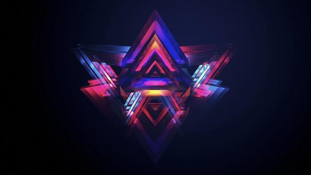 Обои треугольник, яркий, разноцветный, фон картинки на рабочий стол, фото скачать бесплатно