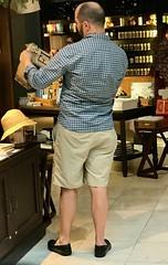 Gift Shop Patron (LarryJay99 ) Tags: backs bald beards butts dude dudes guy guys handsome male man manly men napes people studly virile downtonabbey mpb neck shorts baldspot