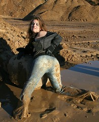 430 (eliseoutof) Tags: messy mud muddy wet dirty sexy ass jeans bellbottom flare long girl tight