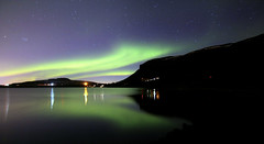 Aurora Iceland 05.04.2019 #4 (ragnaolof) Tags: auroraborealis northernlights iceland reykjavík mosfellsbær hafravatn lake night reflection