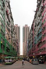Tai Kok Tsui, HK (mikemikecat) Tags: ç´è² tai kok tsui one person old buildings town mikemikecat building exterior architecture city built structure motor vehicle mode transportation car sky land residential district incidental people street day nature life clear men outdoors office apartment