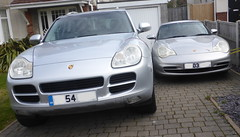 Silver Porsches Large & Small (andreboeni) Tags: 911 36 996 2003 cayenne s 32 2004 car automobile cars automobiles voitures autos automobili voiture auto porsche