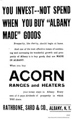 1910  Rathbone, sard and co.  acorn stove ad (albany group archive) Tags: early 1900s old albany ny vintage photos picture photo photograph history historic historical