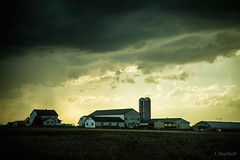 cold front (Jen MacNeill) Tags: weather lancaster county country rural pa pennsylvania countryside cold front storm evening sky skies cloudy farm barn agriculture drama