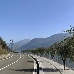 (Paolo Cozzarizza) Tags: italia lombardia bergamo rivadisolto panorama acqua alberi strada
