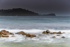 Wet Weather Day at the Seaside (Merrillie) Tags: daybreak sunrise raining centralcoast nature water drizzly wet overcast rocky weather newsouthwales rocks earlymorning nsw morning sea ocean avocabeach landscape waterscape coastal waves sky seascape dawn coast australia outdoors